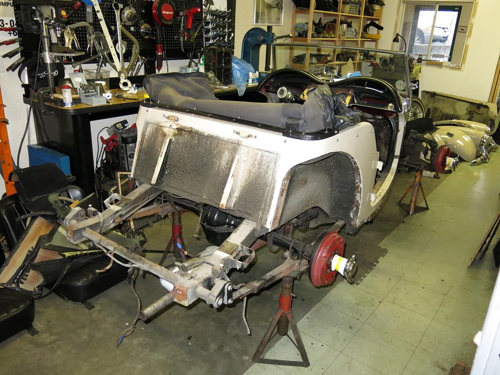 1955 Mg Tf Teardown  U2013 Owen Automotive Canada