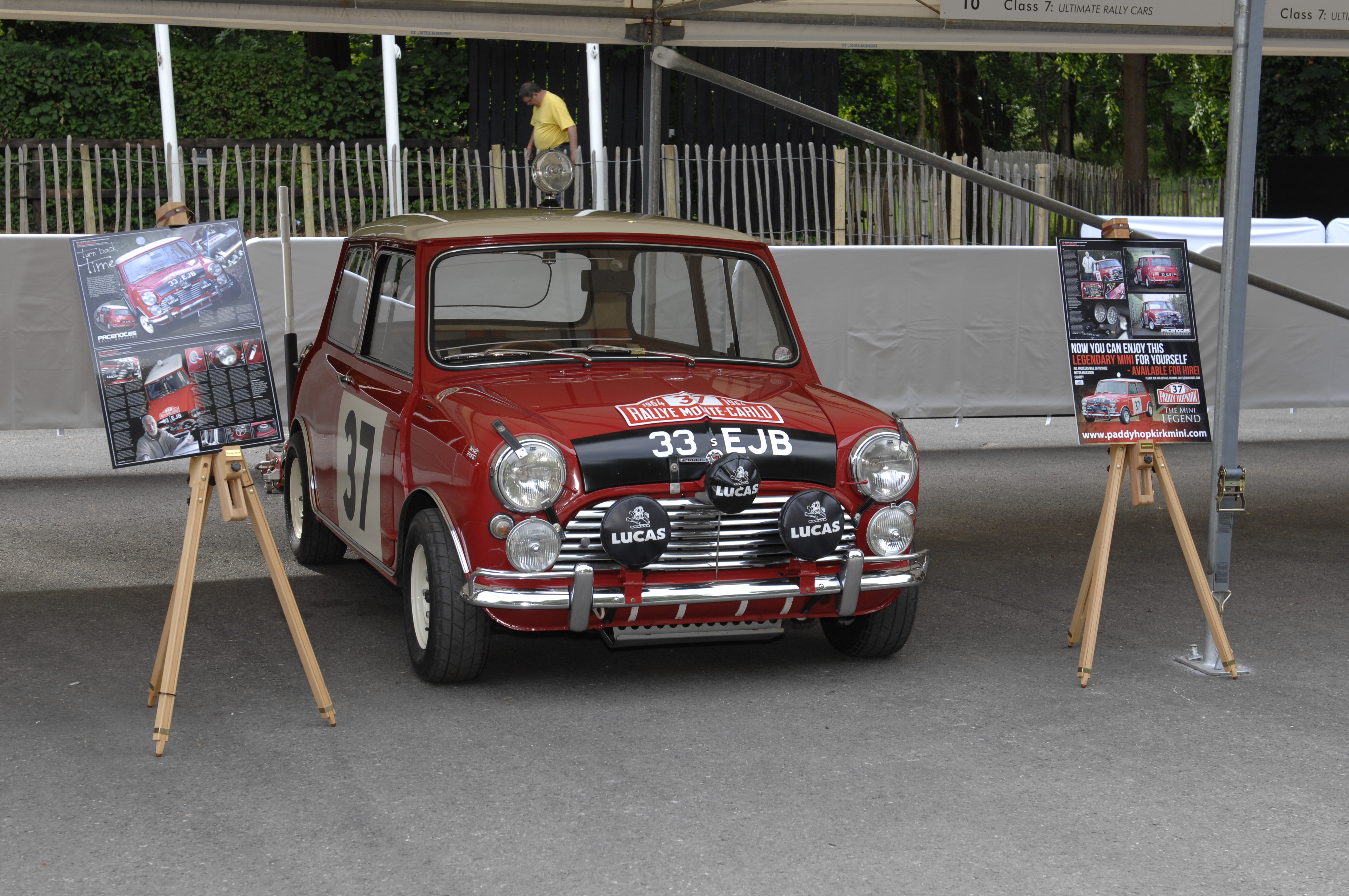 Probably the most famous of all Mini Coopers, 33EJB which the Irish Hero Paddy Hopkirk used to win the 1964 Monte Carlo Rally.
