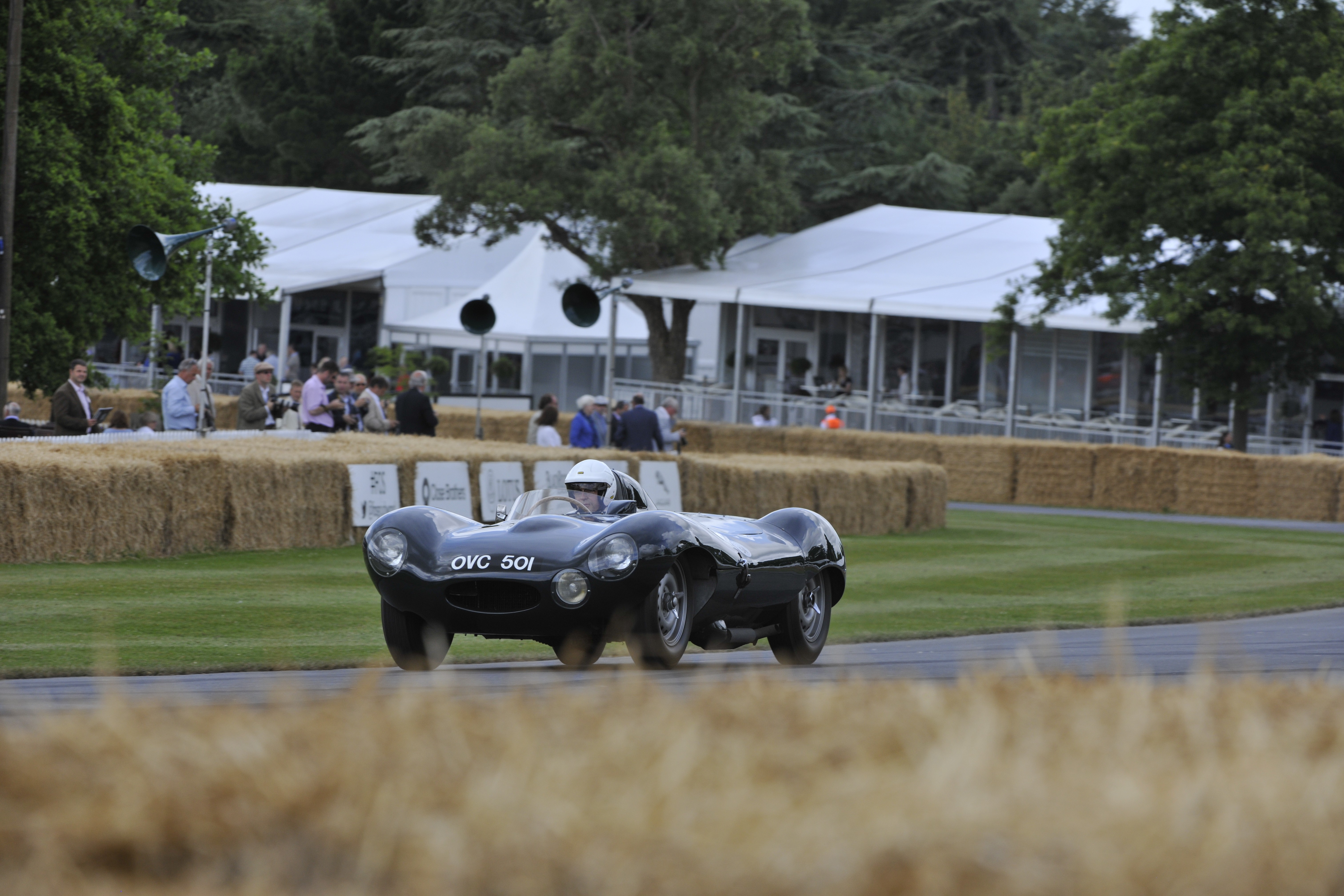 Before Jaguar started to produce the D-Type, a small group of pre-production cars were made starting with the prototype chassis XKC401. This car became the testbed for the new ideas that Malcom Sayer and others would implement into their already winning C-Type design. Our feature car also has the distinction of remaining in largely original condition and is easily spotted by its long-time OVC501.