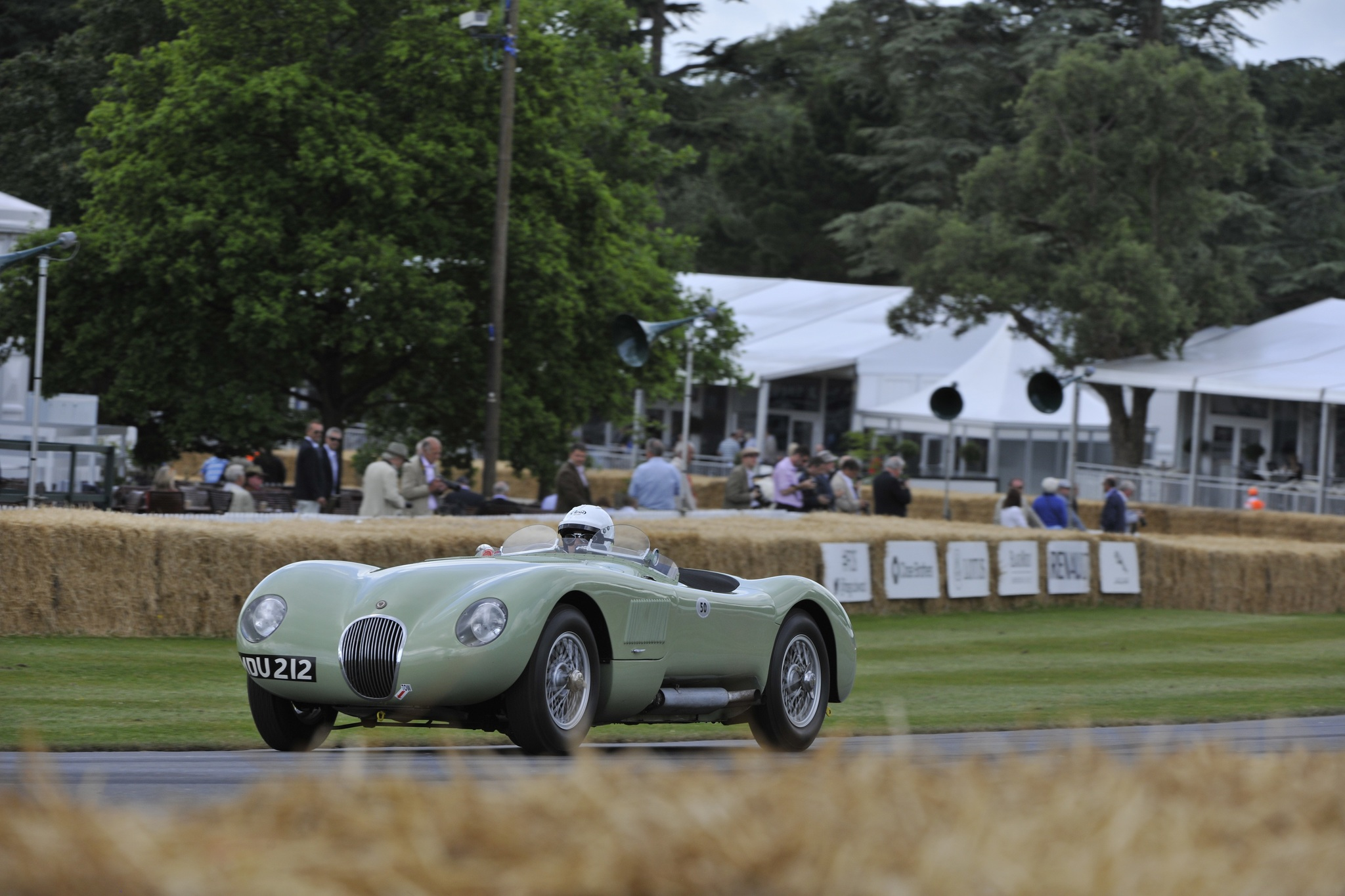 This Pastel Green C-Type was raced by Stirling Moss in 1952 then continued an extensive career with Michael Head.