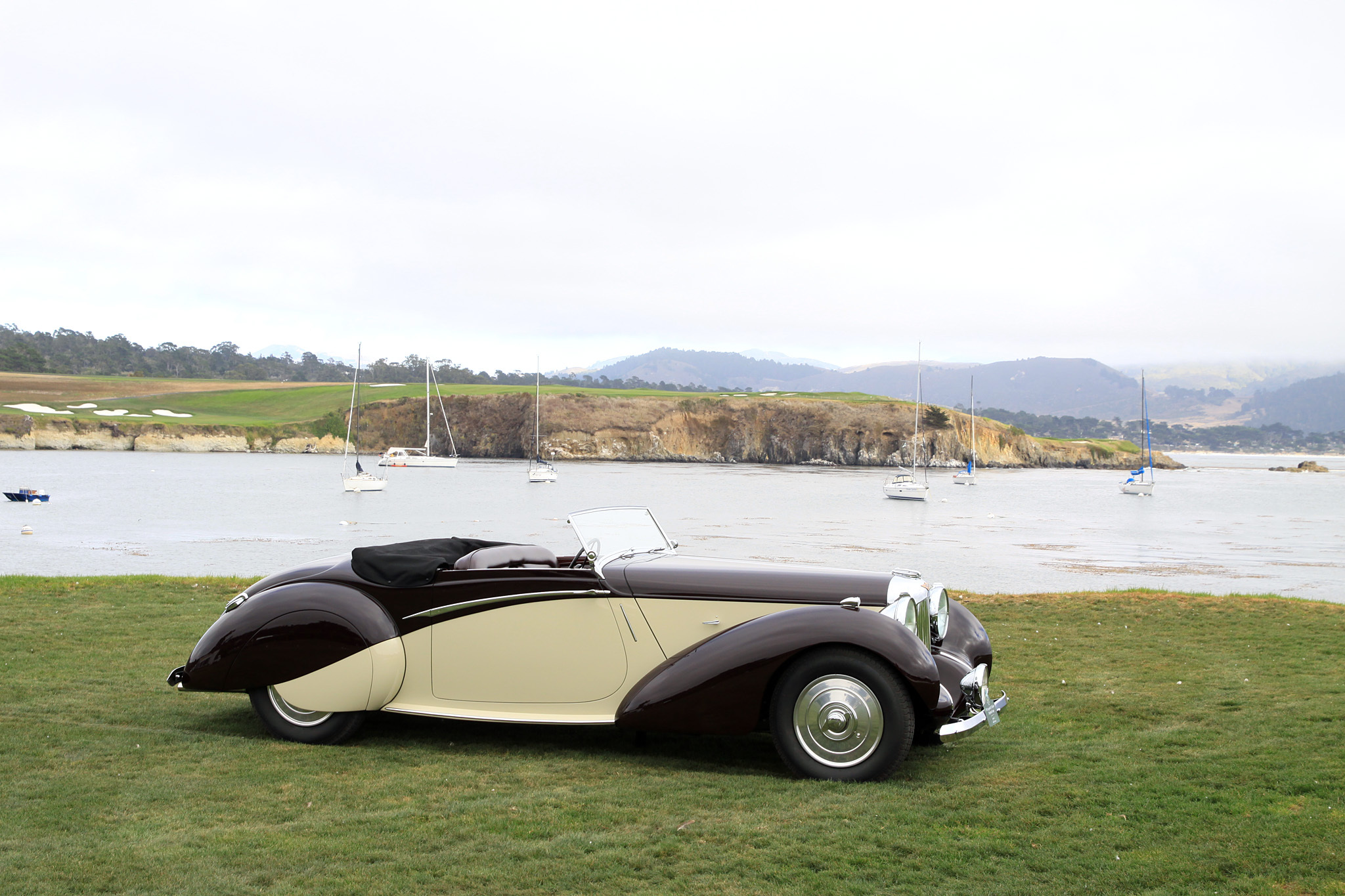 1939 Lagonda V12 Rapide Drophead Coupé 14091.  This V12 Drophead Coupé features a sporty, four-seat convertible body made by Lagonda's in-house coachbuilding division. After several owners in the United Kingdom it was taken to Australia in 1969 before its current owner brought it to the United States in 2006.
