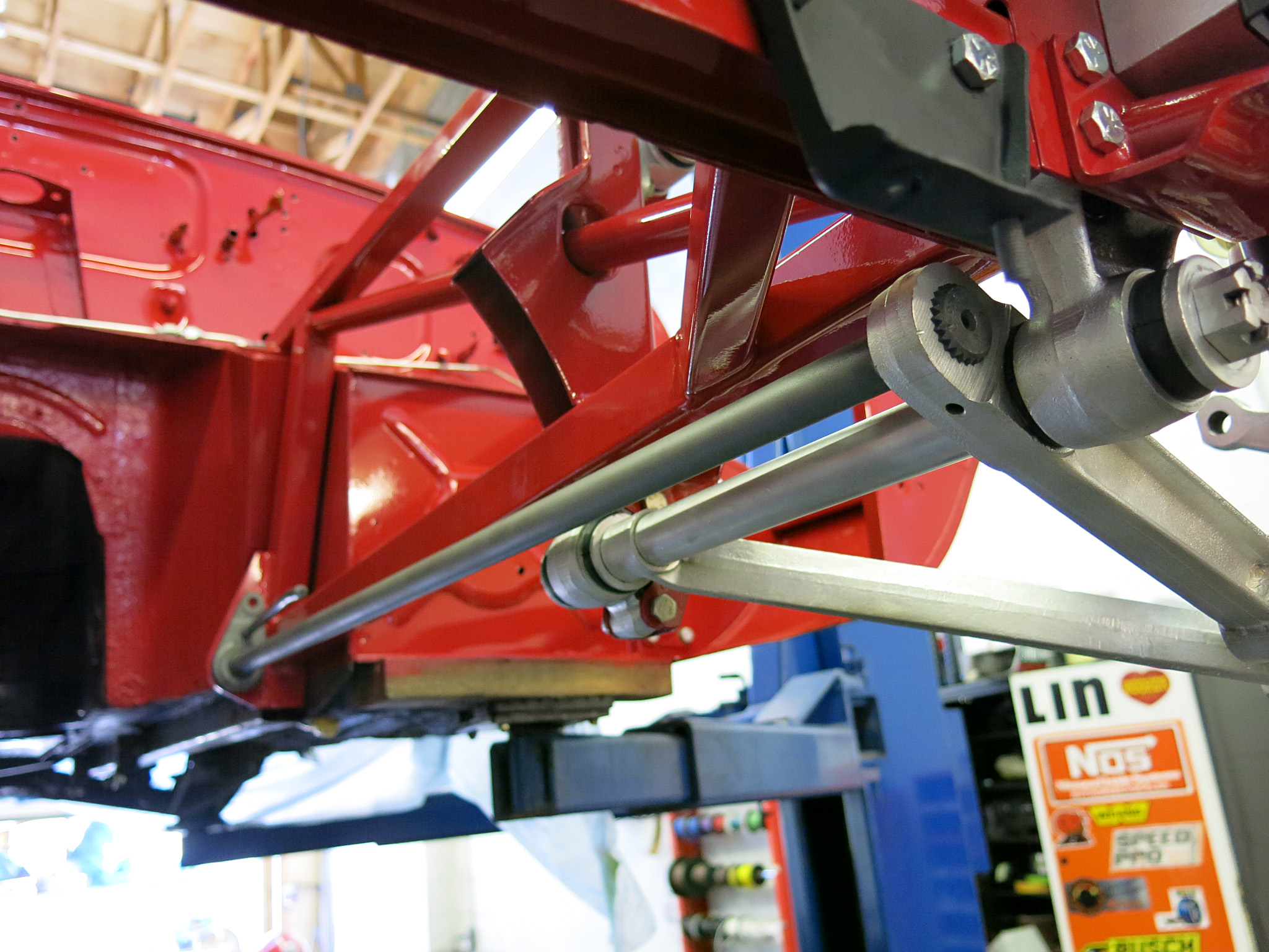 LH Torsion bar is installed to its factory original position.