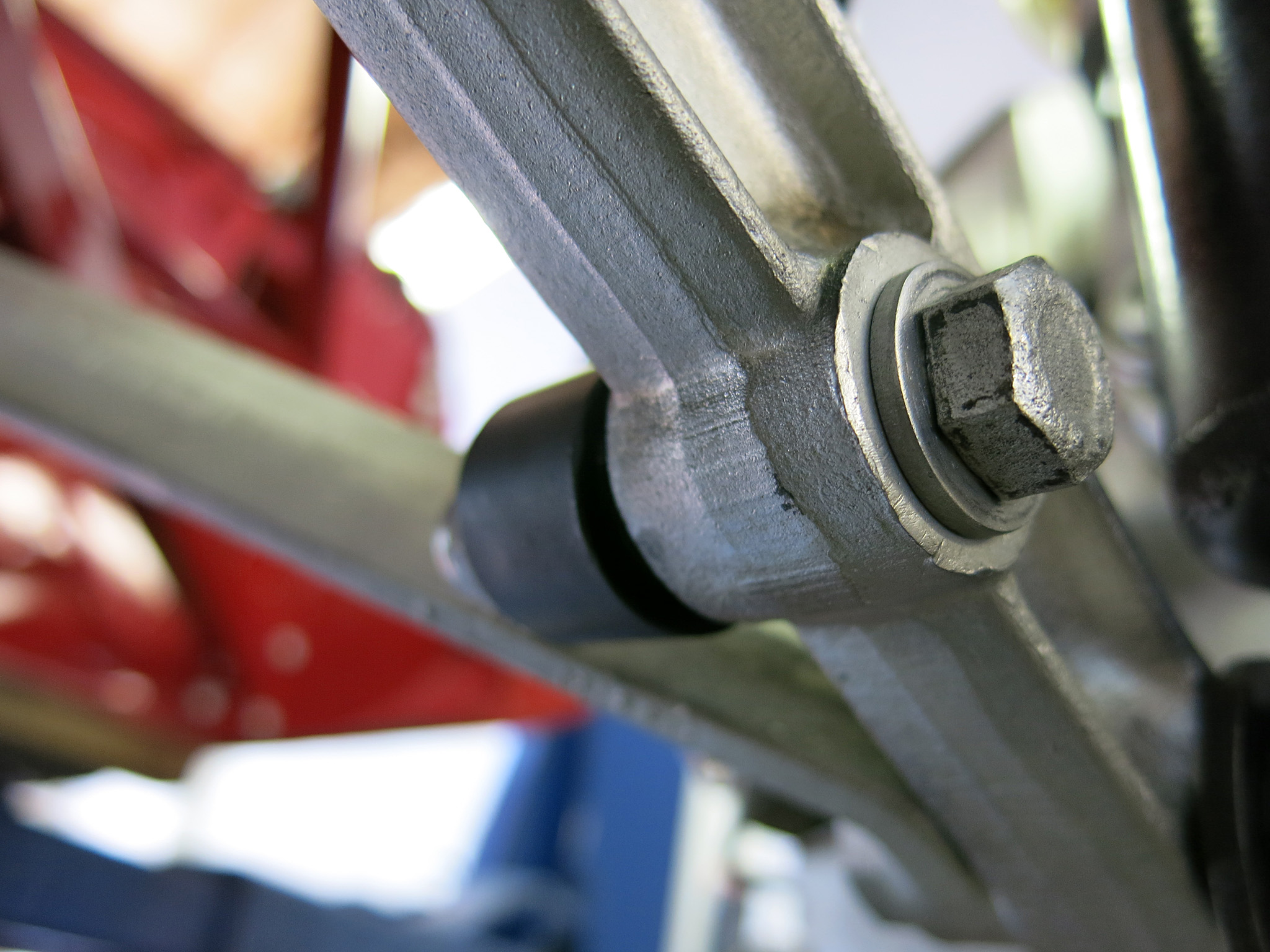 STEP WHATEVER - Mount up the sway bar with the links that extend down to the lower control arm.