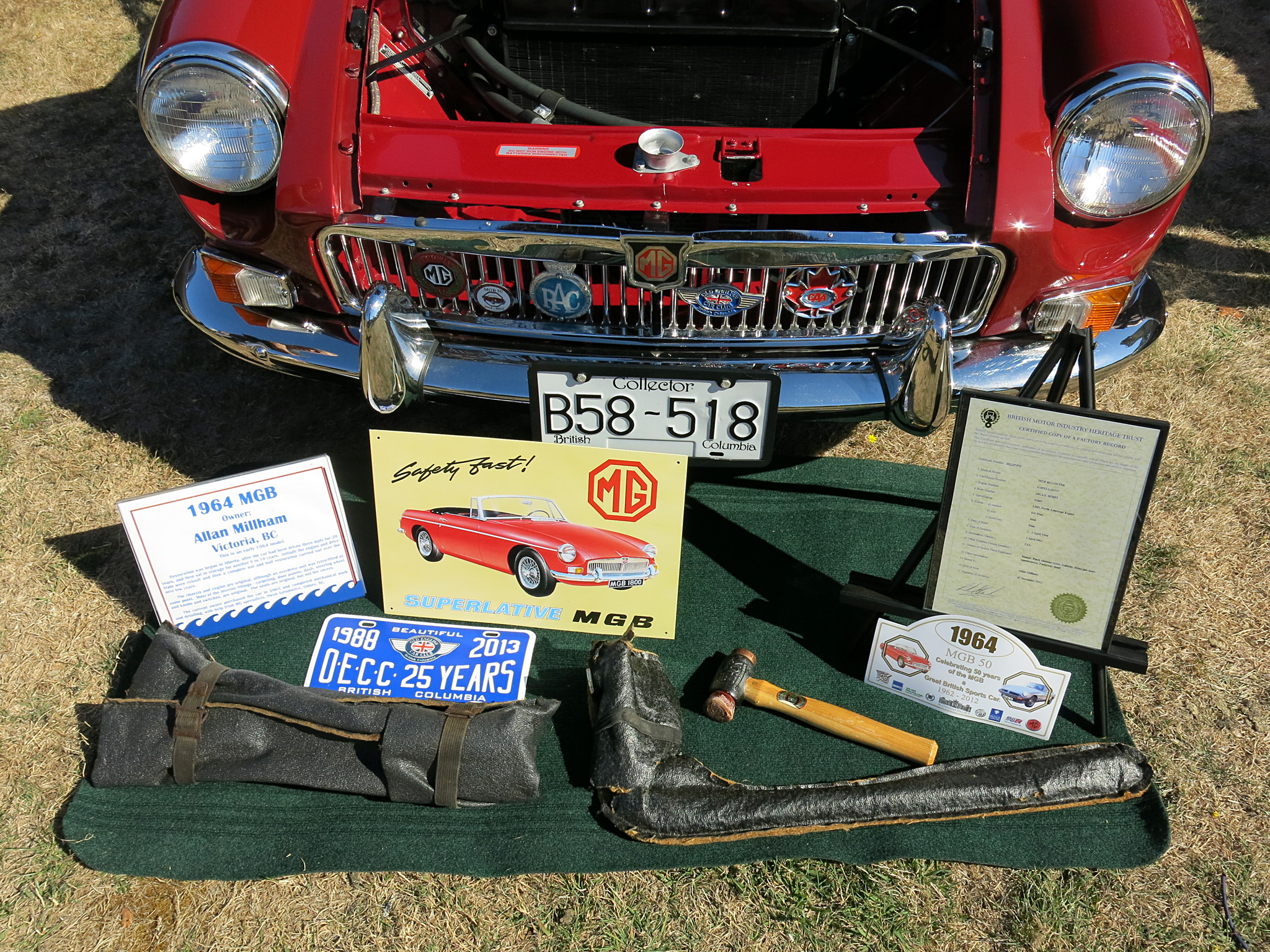 Allan Millham wins our 'award' for best concours spread of the show.