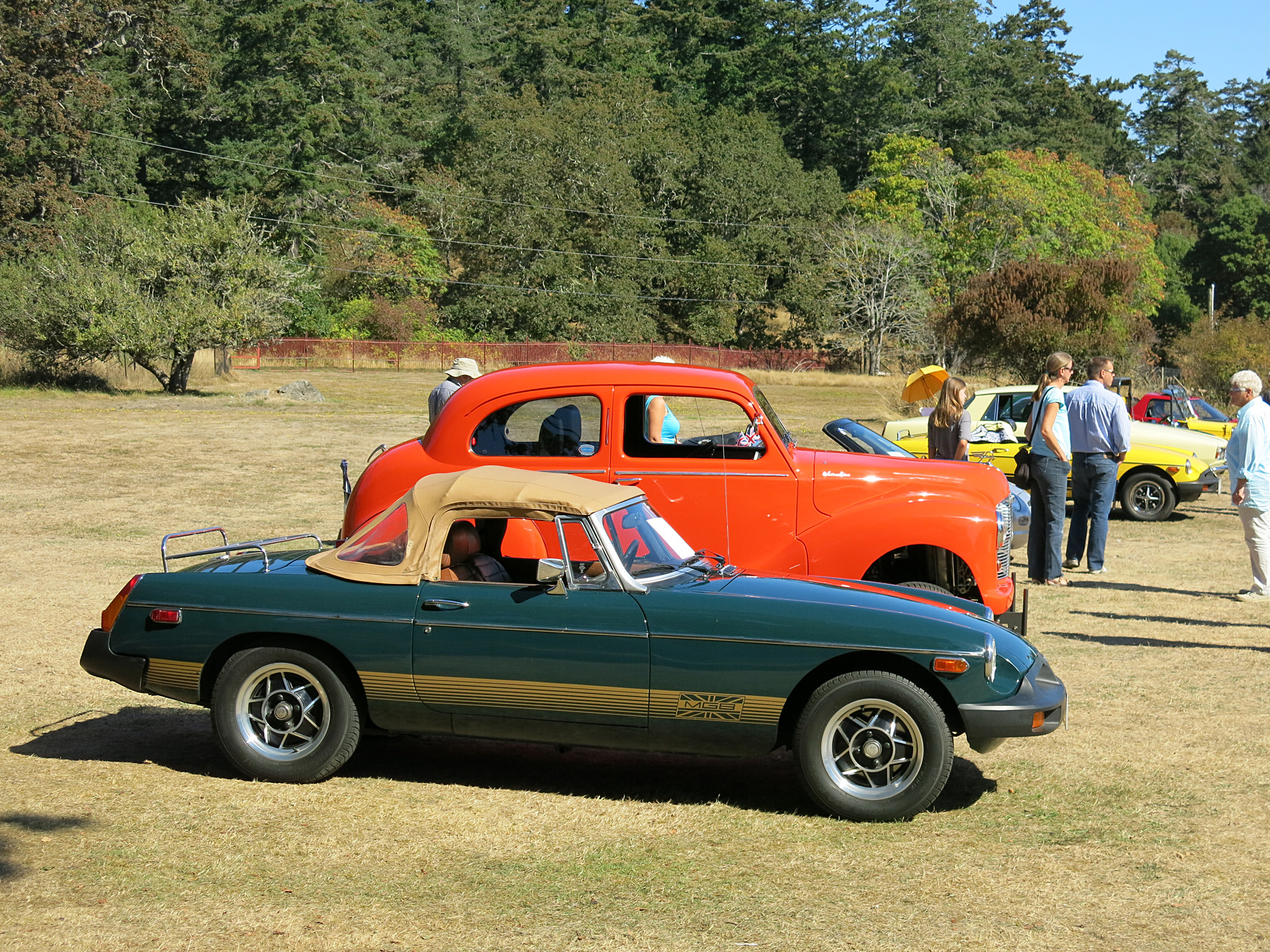 This 1978 MGB is presented in its rare and original color scheme.