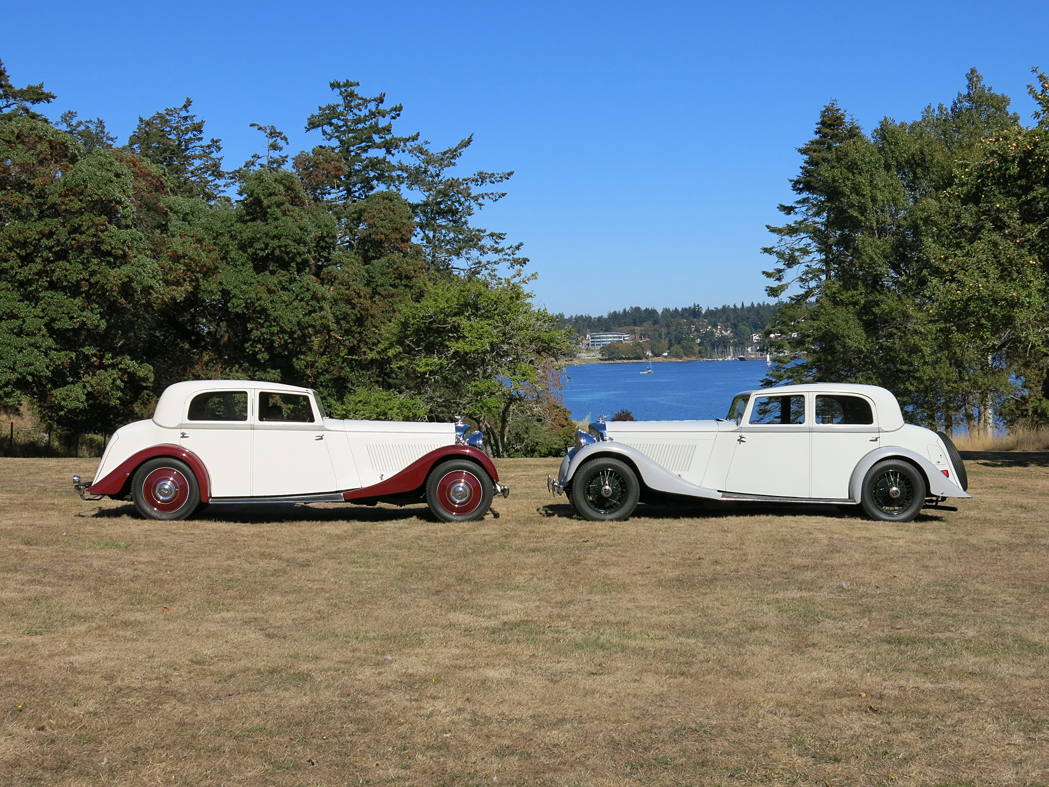 Our 1935 Bentley chassis B-90-EF alongside its Nick Northeast's twin.
