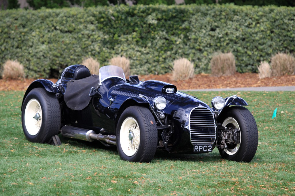 "This 1950 HWM Formula 2 works car, raced by Stirling Moss, Johnny Ches and Rudi Fischer, won Grand Prix des Fronti'res. It was crashed by Stirling Moss in the Naples Grand Prix. It was sold on by HWM in 1955 cycle-winged sports car and starred in the Hollywood film ""The Racers"" driven by Kirk Douglas. It was completely rebuilt in 1955 as ""The Stovebolt Special"" by Seattle racer Tom Carstens with #V8 Chevrolet small-block. It was the first sports racing car to use this engine. It ran in the last Pebble Beach Road Race in 1956 and driven by Bill Pollack. After a long United States racing career, it was I bought and rebuilt by United Kingdom car journalist and commen- 1 I tator Simon Taylor, who raced it in the United Kingdom, France, the United States and Australia. Simon also drives the car on the road to all its events. The car is road legal. It is small, light and has over 600 bhp per ton, which makes for a devastating road car."