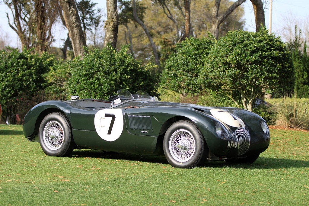 Jaguar C-Type chasiss XKC 053 has had an outstanding 1 racing career. At the end of 1953, the factory sold it to David Murrays famous Ecurie Ecosse. They entered the car in several events in and around England and Scotland. It remains the only lightweight C-Type still retaining its original bodywork.