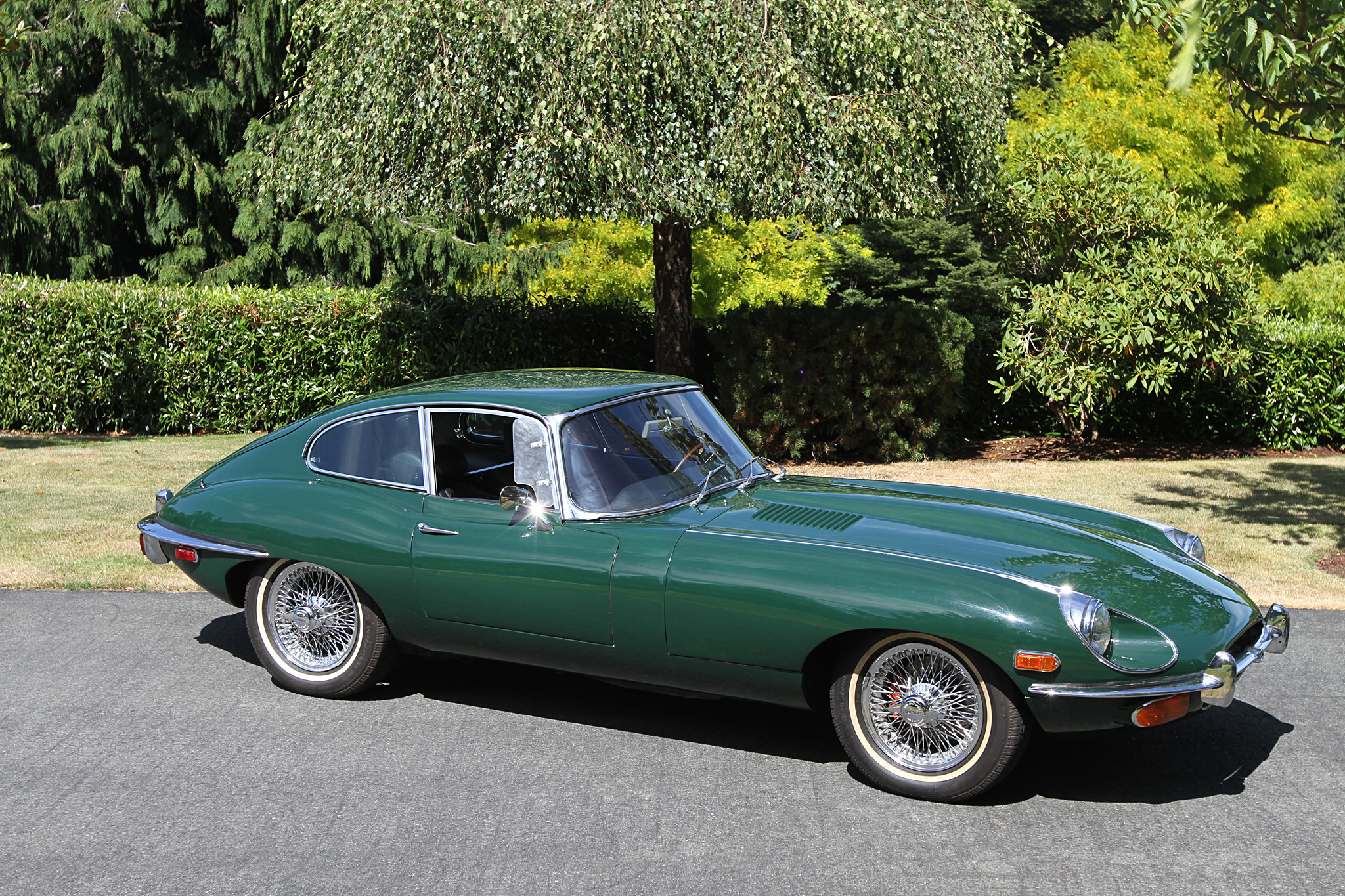 sold 1969 jaguar e type fixed head coupe owen. Black Bedroom Furniture Sets. Home Design Ideas