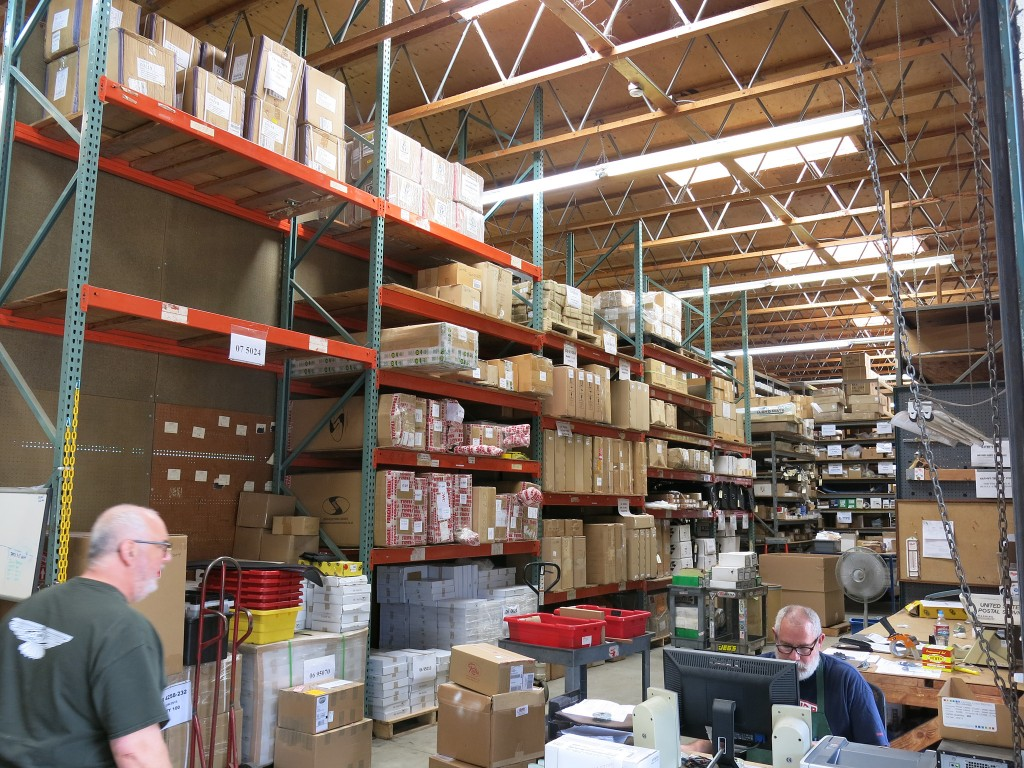 a peek inside the parts warehouse.