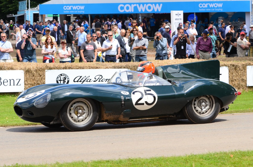 1956 Jaguar D-Type 'Long Nose' XKD605  at the 2016 Goodwood Festival of Speed