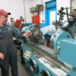 Scott shows off the Robbi Rex 1200 Crankshaft Grinder